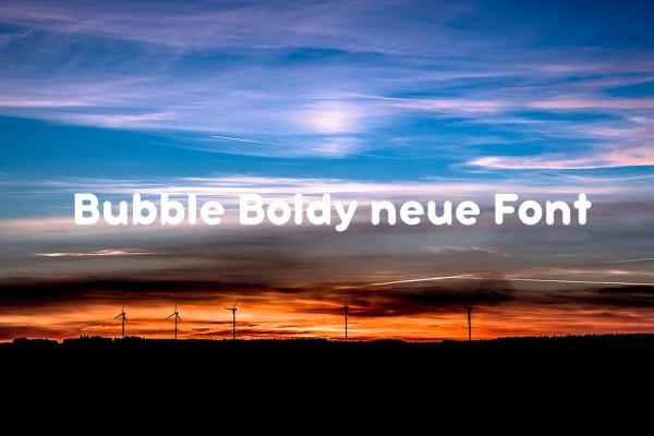 Bubble Boldy neue Font
