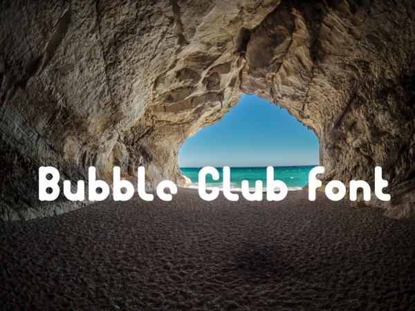 Bubble Club font