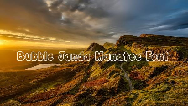 Bubble Janda Manatee Font