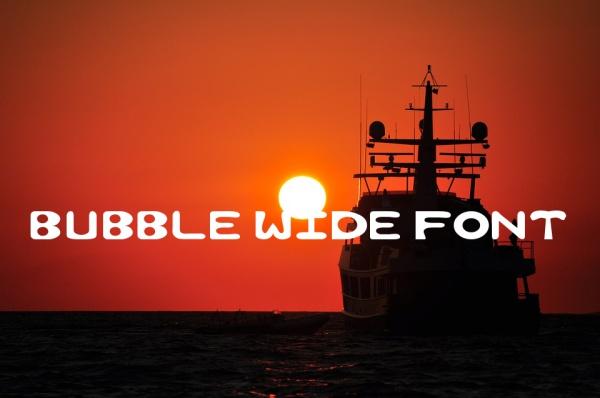 Bubble Wide Font