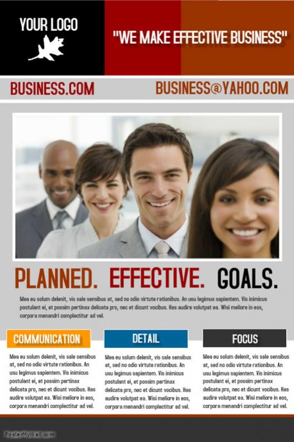 Business Poster Design For Desktop