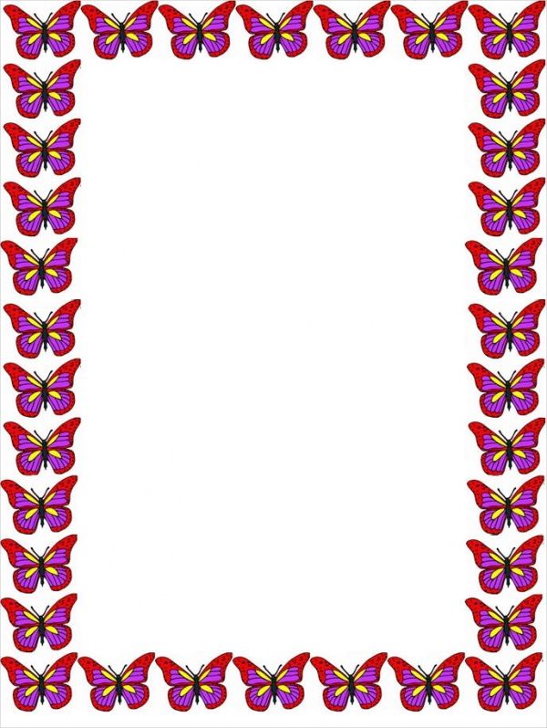 Butterfly Border Clipart