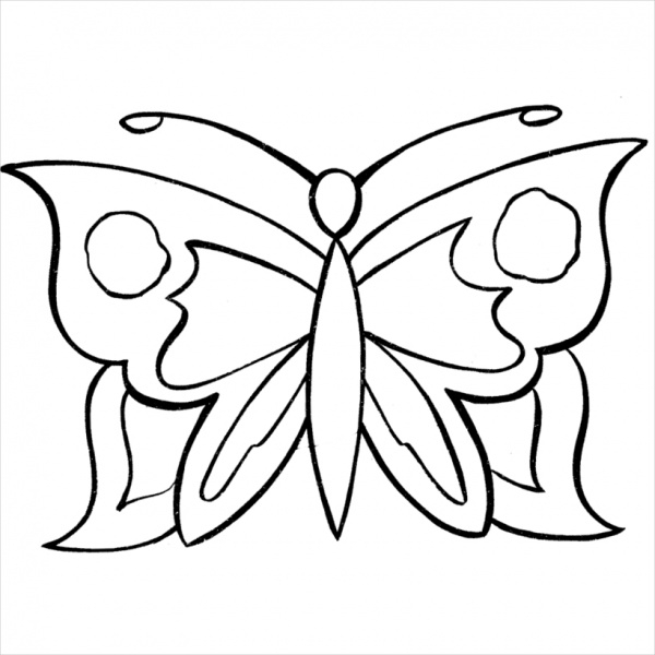 Butterfly Coloring Page for Girls