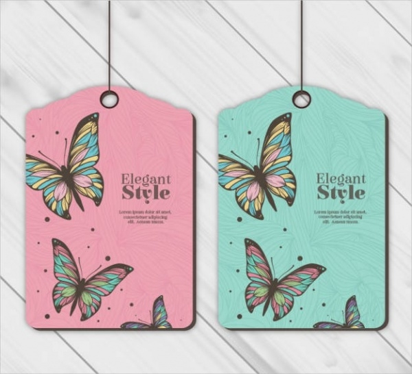 Butterfly Styled Hang Tags