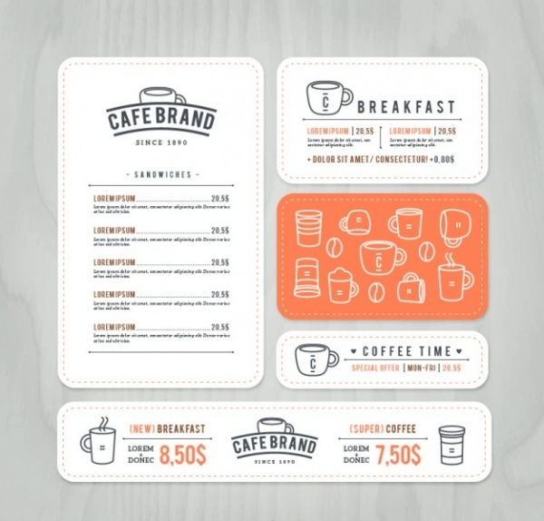 Cafe Brand Menu Design