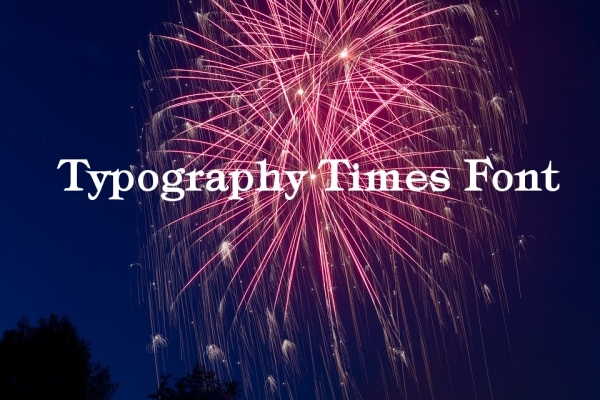 Calligraphy Typography Times Font