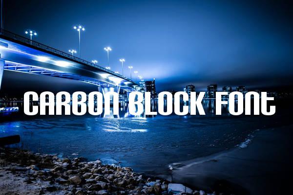 Carbon Block Font