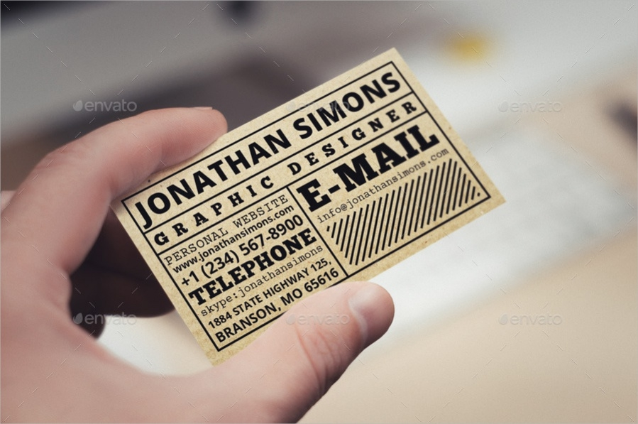 Cardboard Business Ticket