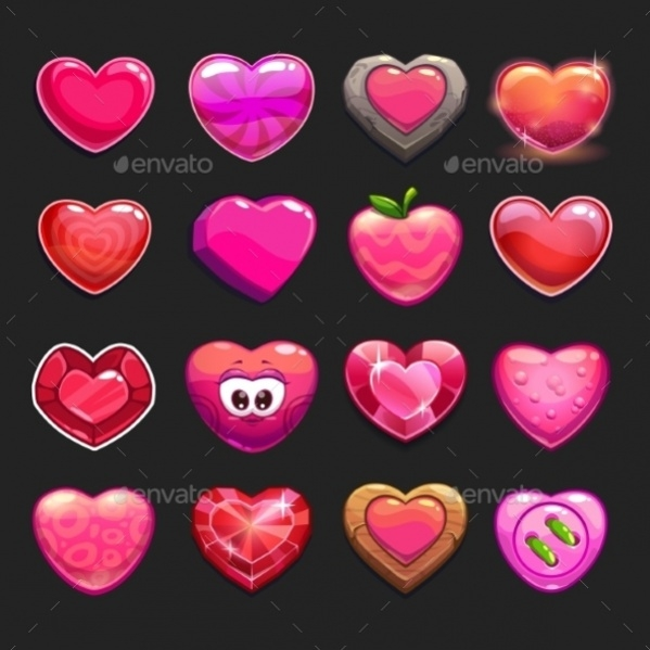 Cartoon Heart Icons