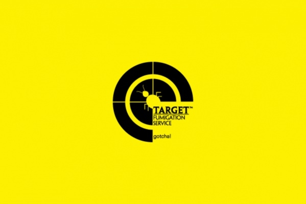 Caution Warning Target logo