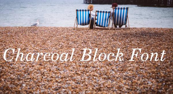 Charcoal Block Font