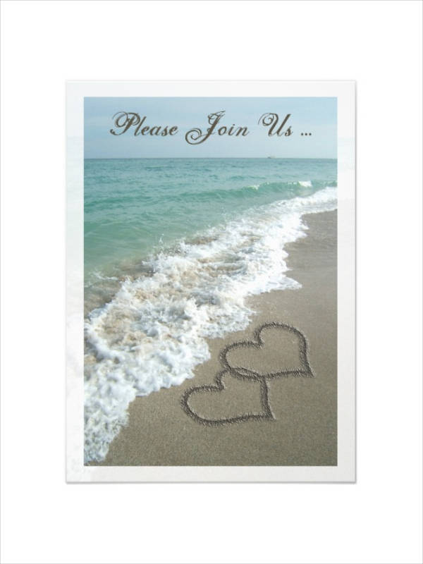 Cheap Beach Wedding Invitation
