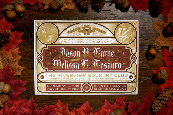 Cheap Fall Wedding Invitation