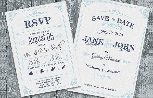 Cheap Letterpress Wedding Invitation