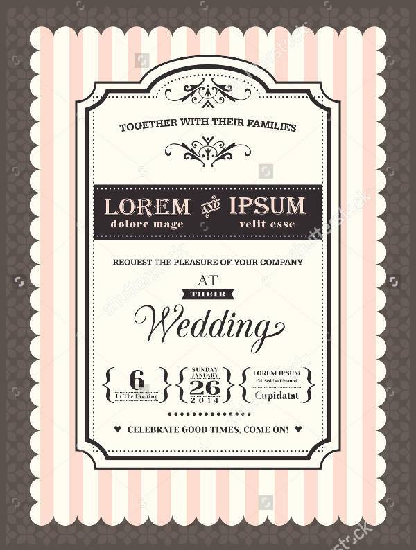 Cheap Personalized Wedding Invitation