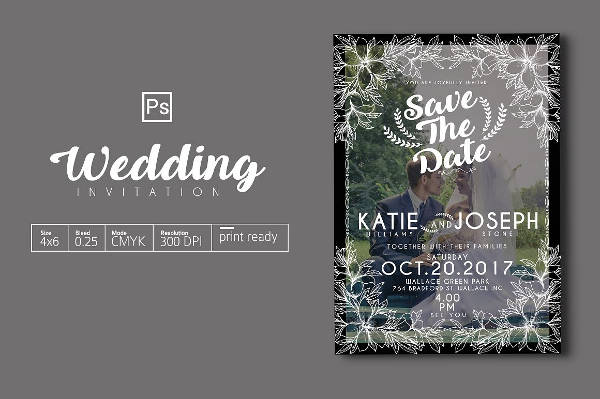 Cheap Photo Wedding Invitation