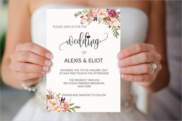 Cheap floral Wedding Invitation