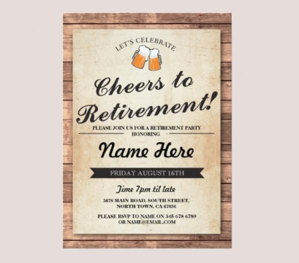 Cheers Beers Retirement Party
