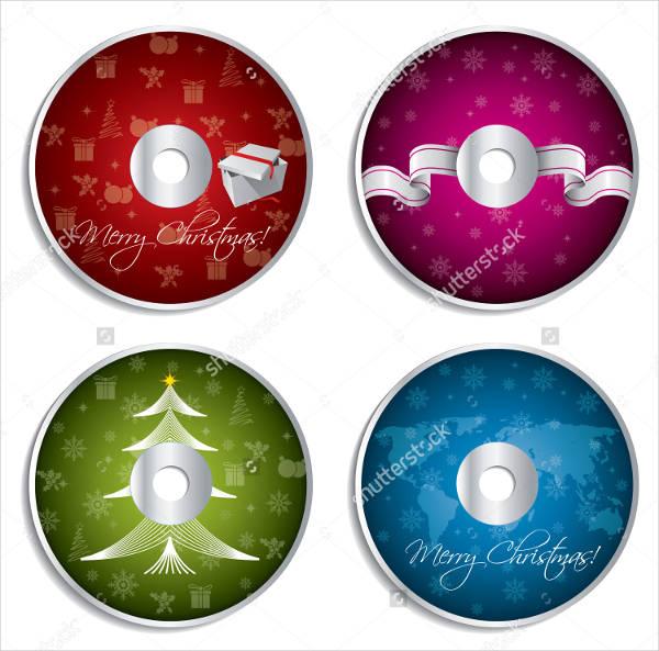 Christmas Cd Label Design