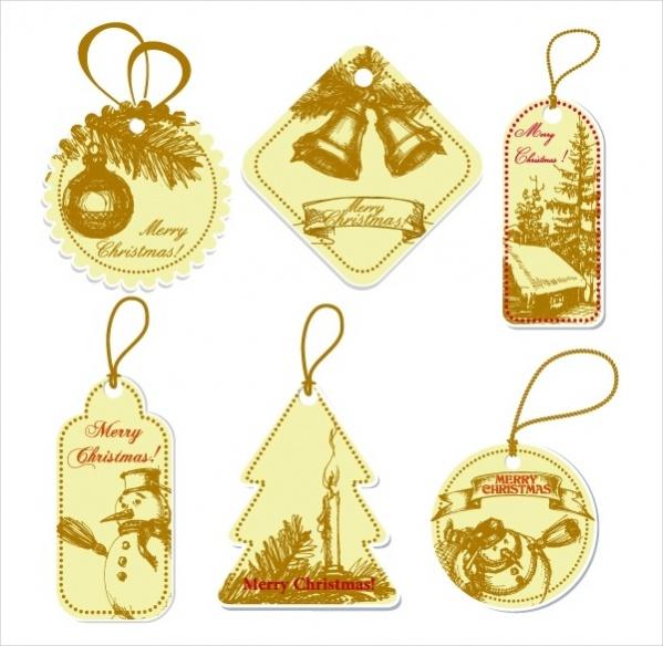 Christmas Label Tags