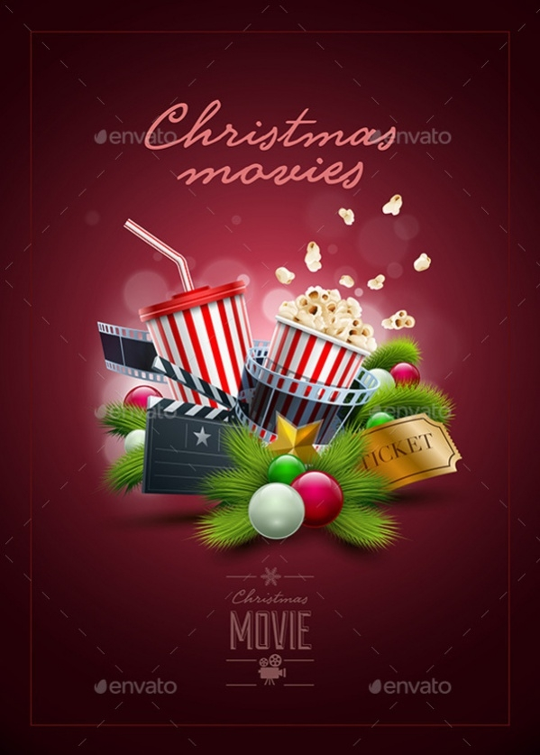 Christmas Movie Poster Design