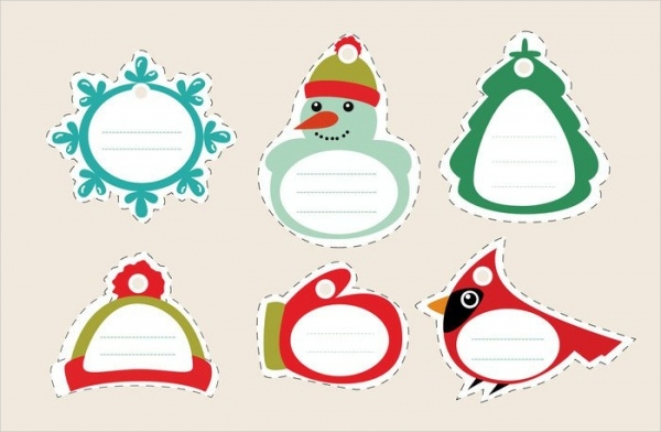 Christmas Stiched Tags