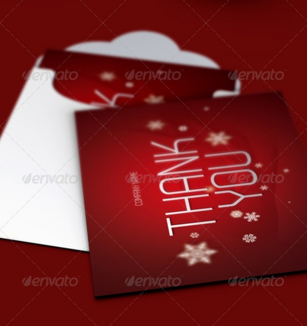 Christmas Thank You Card