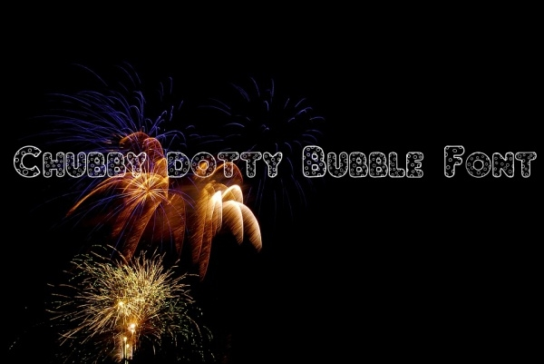 Chubby dotty Bubble Font