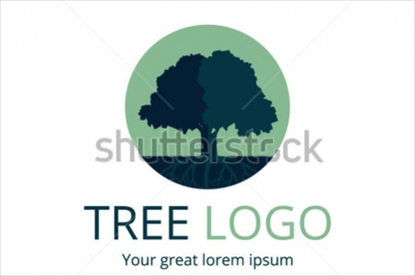 Circle Tree Vector Logo
