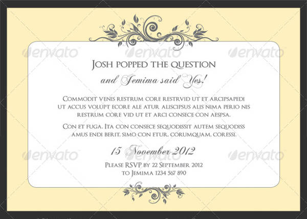 Classic Engagement Party Invitation