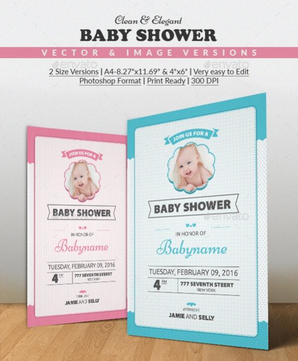 Clean & Elegant Baby Shower Invitation