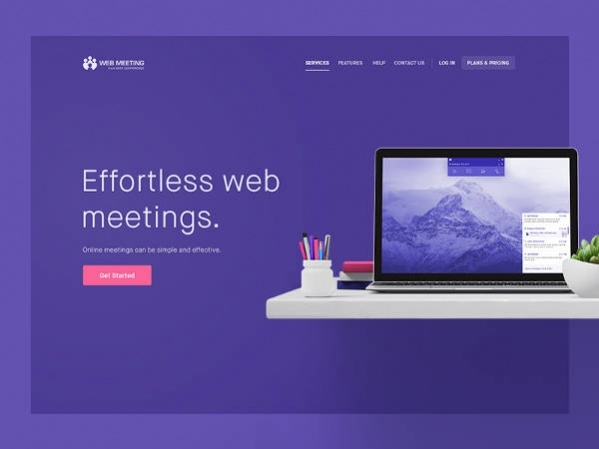 Clean & Flat Responsive Website Page