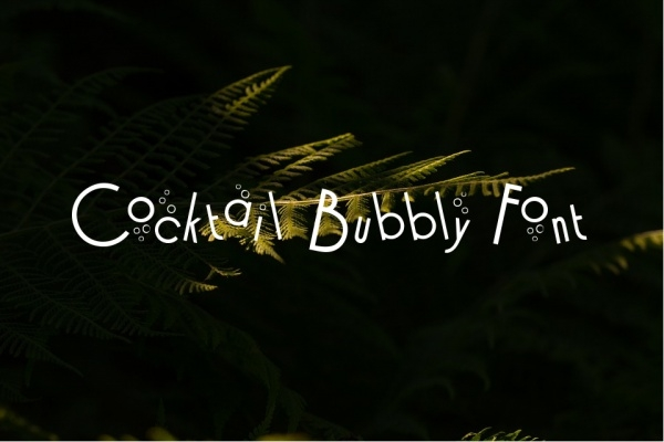 Cocktail Bubbly Font