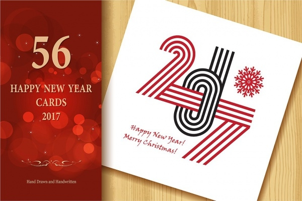 Collection of Happy New Year Greeting Cards