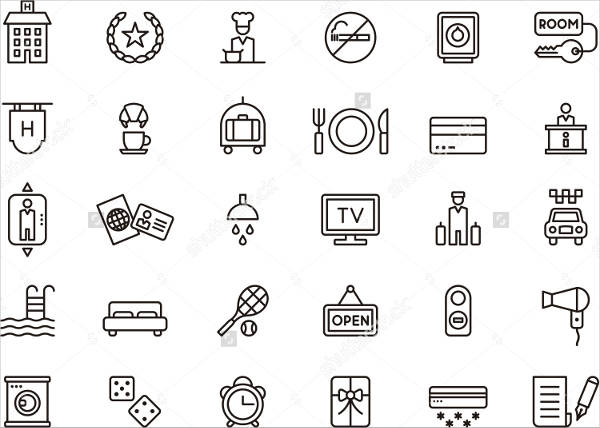 Collection of Hotel Icons
