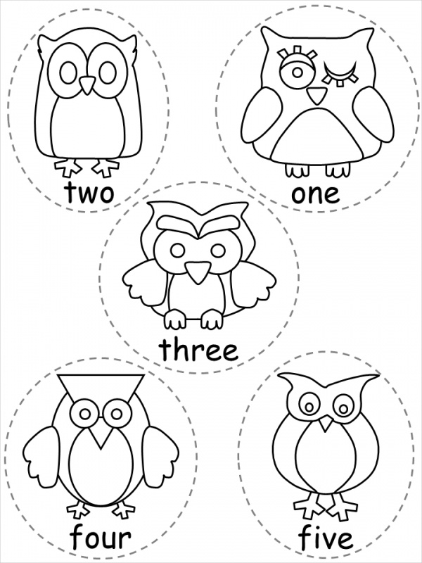 Collection of Owl Coloring Page