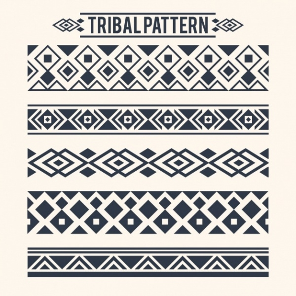 Collection of Tribal Separators Pattern