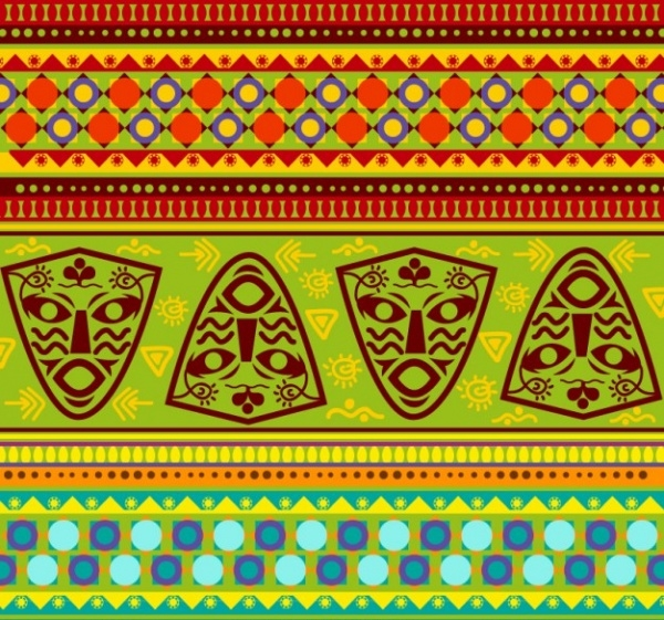 Colorful African Tribal Pattern