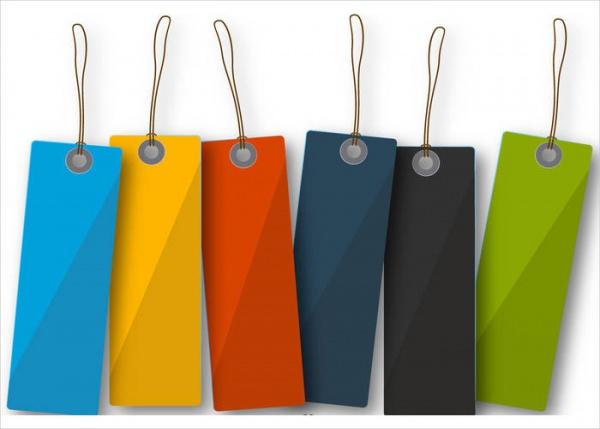 Colorful Blank Hang Tag