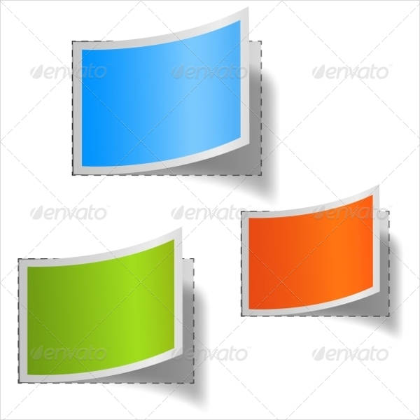 Colorful Blank LAbels