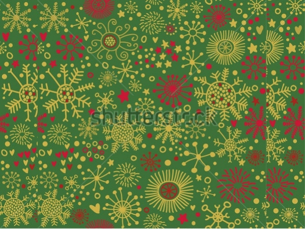Colorful Christmas Snowflake Pattern