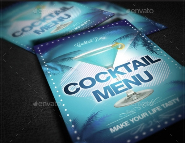 Colorful Cocktail Menu Design