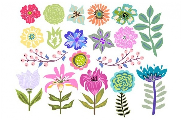 Colorful Flower Clipart Background