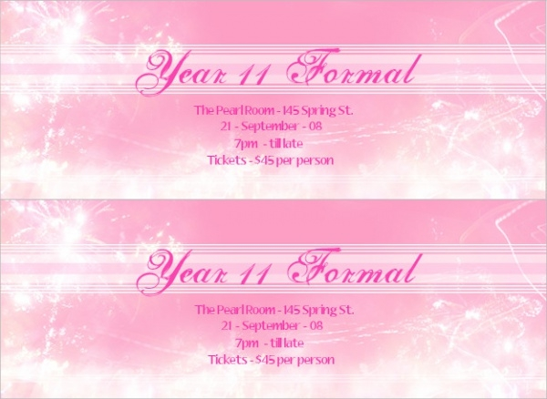 Colorful Formal Ticket