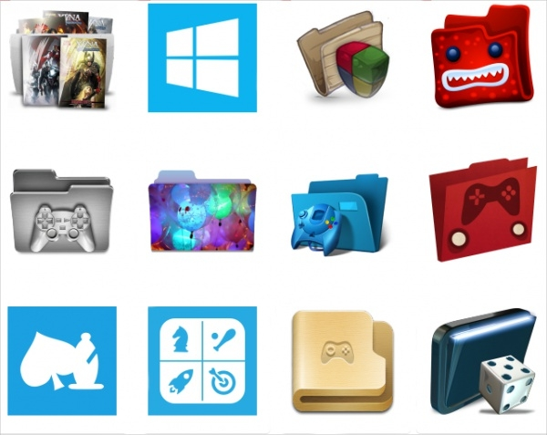 Colorful Game Folder Icons