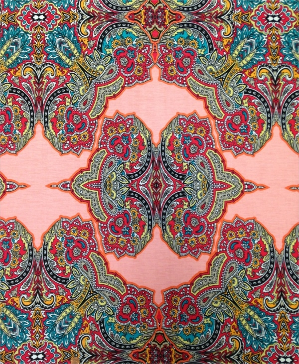Colorful Geometric Paisley Pattern