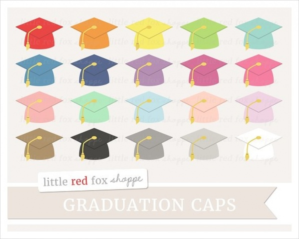 colorful graduation cliparts