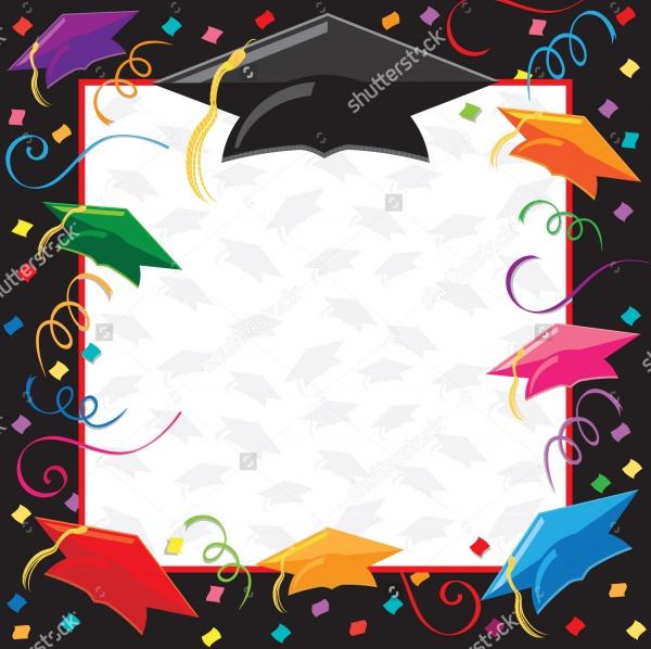 Colorful Graduation Invitation Design
