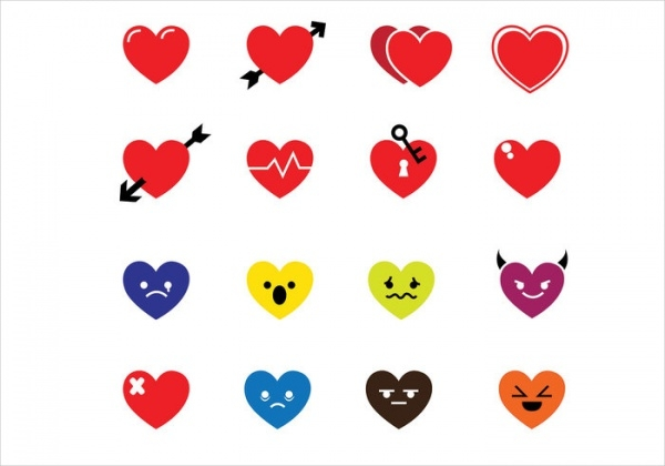 Colorful Heart Icons