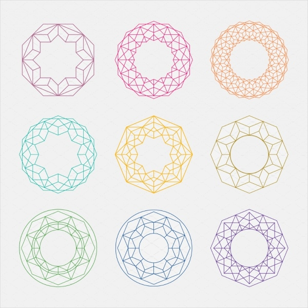 Colorful Mandalas Circle Shapes